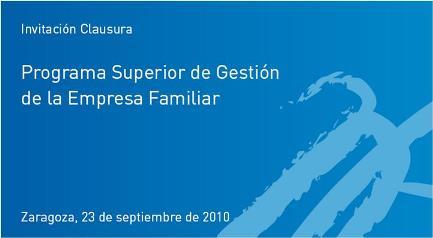 Clausura de la VII Edición del Programa Superior de Gestión de la Empresa Familiar
