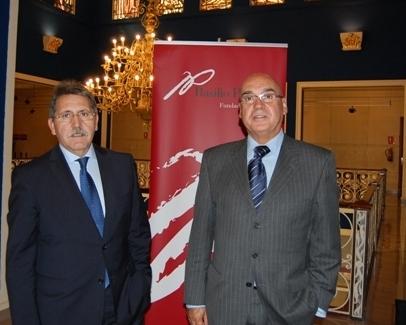 El Presidente del Senado, D.Javier Rojo, en la Fundación Basilio Paraíso
