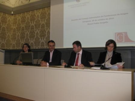 Presentación oficial a la Asociación de Fundaciones de Aragón