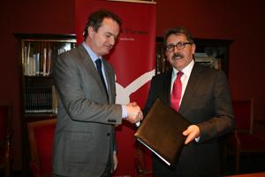 La Fundación Basilio Paraíso firma un convenio con la Asociación de Empresa Familiar de Aragón